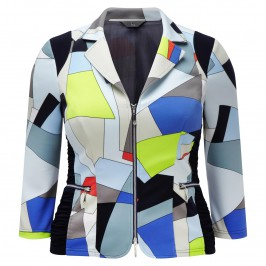 TIA multicolour zip-up JACKET - Plus Size Collection