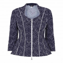 TIA fitted baroque jacquard JACKET - Plus Size Collection