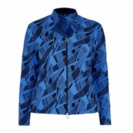 TIA abstract print jacquard JACKET - Plus Size Collection