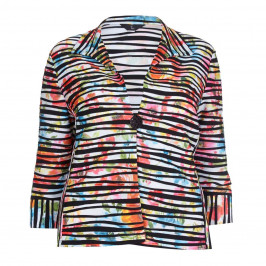 TIA striped ruched JACKET - Plus Size Collection