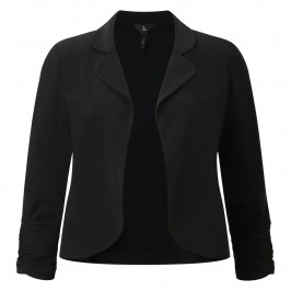 TIA black Cropped jersey jacket - Plus Size Collection