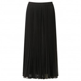 TIA black pleat midi SKIRT - Plus Size Collection