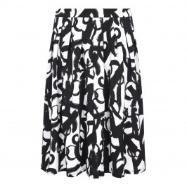 TIA BLACK AND WHITE INVERTED PLEAT SKIRT  - Plus Size Collection