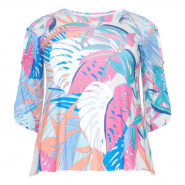 TIA LEAF PRINT TOP - Plus Size Collection
