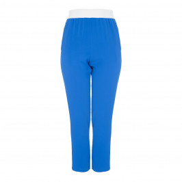 TIA BLUE TROUSER ELASTICATED WAIST SIDE-STRIPE - Plus Size Collection