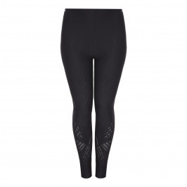 BEIGE LABEL BLACK LUREX EMBELLISHED LEGGING - Plus Size Collection