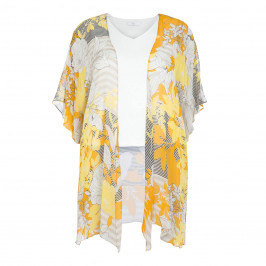 TIA TWINSET CHIFFON JACKET AND JERSEY VEST - Plus Size Collection