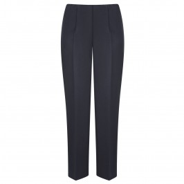 Verpass navy pull on narrow leg elastic waist trousers - Plus Size Collection