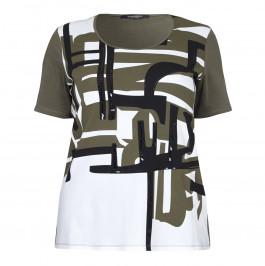 Marina Rinaldi khaki sequin T-SHIRT - Plus Size Collection