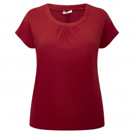 MARINA RINALDI red ruche detail TOP - Plus Size Collection