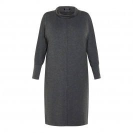 VERPASS COWL NECK JERSEY DRESS GREY - Plus Size Collection