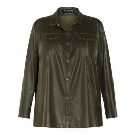 VERPASS ECO LEATHER SHIRT GREEN
