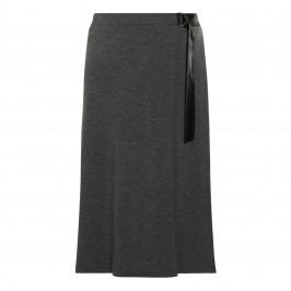 VERPASS WRAP-OVER SKIRT GREY - Plus Size Collection