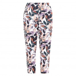 VERPASS LEAF PRINT CROPPED TROUSERS  - Plus Size Collection