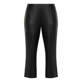 VERPASS ECO LEATHER TROUSERS BLACK - Plus Size Collection