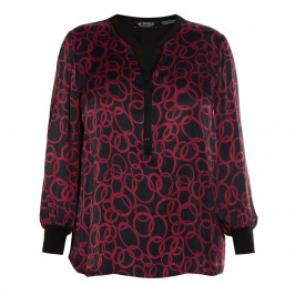VERPASS SATIN FRONT PRINT TUNIC - Plus Size Collection