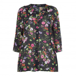 VERPASS DITSY FLORAL CHIFFON BLOUSE - Plus Size Collection