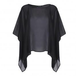 VERPASS BLACK GEORGETTE CAPE - Plus Size Collection