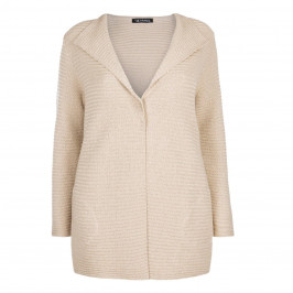 VERPASS RIBBED LUREX CARDIGAN IN GOLD - Plus Size Collection