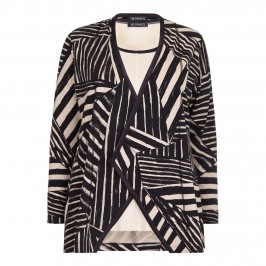 VERPASS abstract stripe jersey twinset - Plus Size Collection
