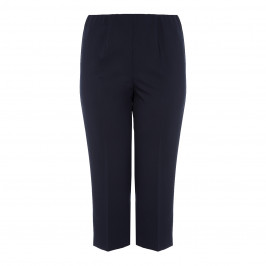 VERPASS PULL ON FRONT CREASE CULOTTE NAVY - Plus Size Collection