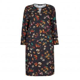 VERPASS BLACK BACKGROUND FLORAL PRINT DRESS - Plus Size Collection