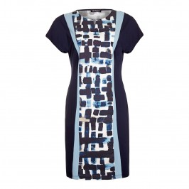 VERPASS panelled print DRESS - Plus Size Collection