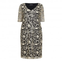 VERPASS Black and gold embroidered DRESS - Plus Size Collection