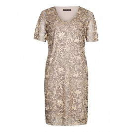 VERPASS gold embroidered lace DRESS - Plus Size Collection