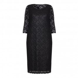 VERPASS BLACK STRETCHY LACE DRESS - Plus Size Collection