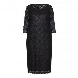 VERPASS BLACK STRETCHY LACE DRESS - Plus Size Collection