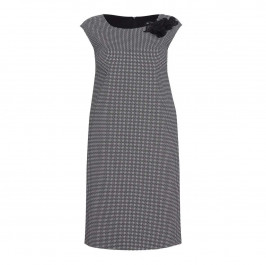 VERPASS monochrome jacquard DRESS - Plus Size Collection