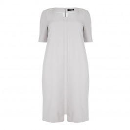 VERPASS dove grey tailored stretch DRESS - Plus Size Collection