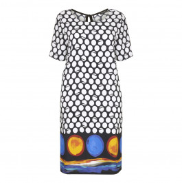 VERPASS abstract spot print DRESS - Plus Size Collection