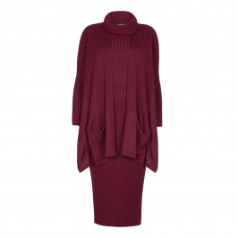 VERPASS RIBBED KNITTED DRESS AND GILET - Plus Size Collection