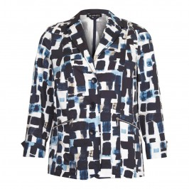 VERPASS Abstract print JACKET - Plus Size Collection