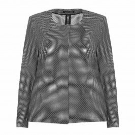 VERPASS monochrome jacquard JACKET - Plus Size Collection
