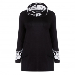 VERPASS Black & White KNITTED TUNIC - Plus Size Collection