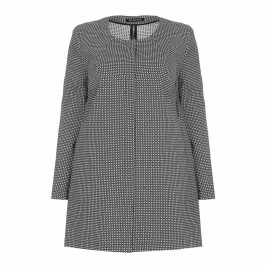 VERPASS monochrome jacquard LONG JACKET - Plus Size Collection