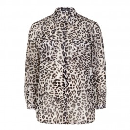 VERPASS LIGHT PINK LEOPARD CRUSHED SHIRT - Plus Size Collection