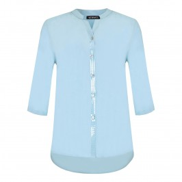 VERPASS baby blue SHIRT with sequin trim - Plus Size Collection