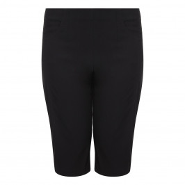 VERPASS BLACK TECHNO STRETCH PULL ON SHORTS  - Plus Size Collection