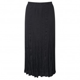 Beige crinkle chiffon maxi SKIRT in black - Plus Size Collection
