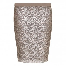 VERPASS gold lace pencil SKIRT - Plus Size Collection