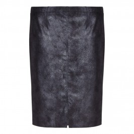 VERPASS gunmetal eco leather painted effect SKIRT - Plus Size Collection