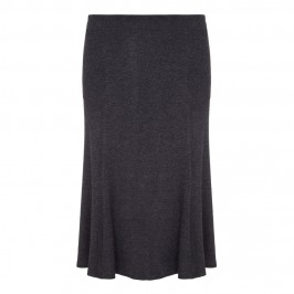 VERPASS mid length flick hem grey marl SKIRT - Plus Size Collection