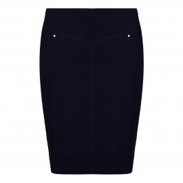 VERPASS navy technostretch SKIRT - Plus Size Collection