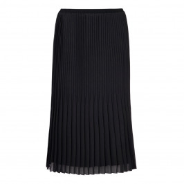 BEIGE LABEL BLACK PLEATED MAXI SKIRT - Plus Size Collection