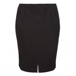VERPASS BLACK TECHNO STRETCH PENCIL SKIRT - Plus Size Collection