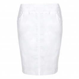 VERPASS WHITE TECHNO STRETCH PENCIL SKIRT  - Plus Size Collection
